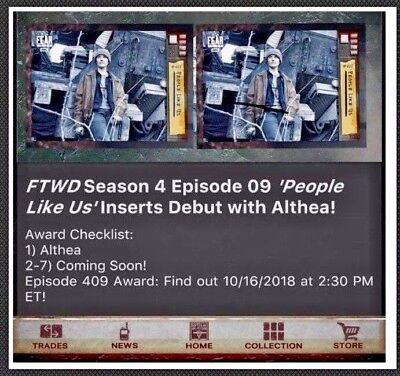 PRESALE Topps FEAR WALKING DEAD DIGITAL Card Trader 409 BLUE (7 CARD SET) FTWD