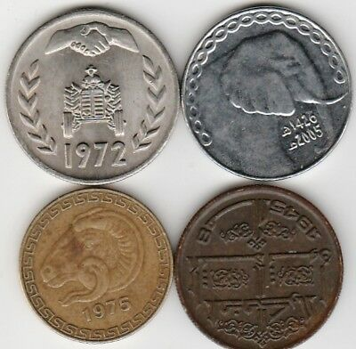 4 different world coins from ALGERIA