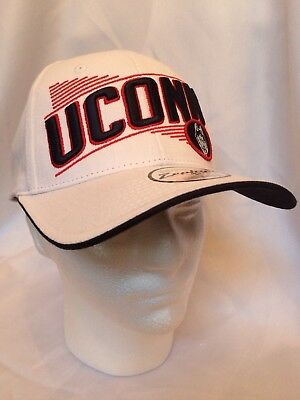 low priced cd5ee 00325 UConn Huskies NCAA White Snap back Hat Cap by Zephyr New