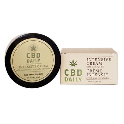 Daily Intensive Cream Hemp Essential Oils for Muscle Joint Pain Relief 1.7 oz