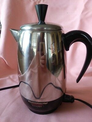 Vintage Farberware Superfast 2-8 Cup Electric Coffee Percolator/Maker Works!!