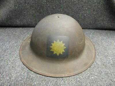 Wwi Us Model 1917 Helmet W/ Painted 40Th Division Insignia