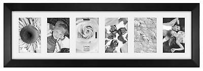 Malden 4X6 6-Opening Collage Matted Picture Frame - Displays Six 4X6 Pictures -