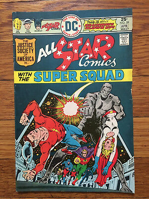 All-Star Comics #59 - Justice Society, 2nd Power Girl appearance - DC 1976