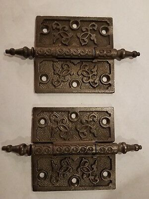 Vintage Brass and Cast Iron Hinges