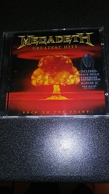 MEGADETH Greatest Hits Back To The Start CD Used in Perfect Condition