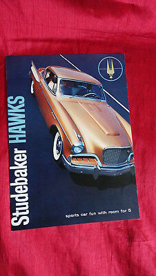 1957 Studebaker Hawks Color Dealer Promo Brochure 8 1/2 X 11 Nice Cond Sport Car