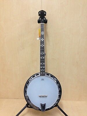 Caraya BJ-007A 5-String Banjo,Mahogany Resonator+Free Gig Bag-Cosmetic Blemished