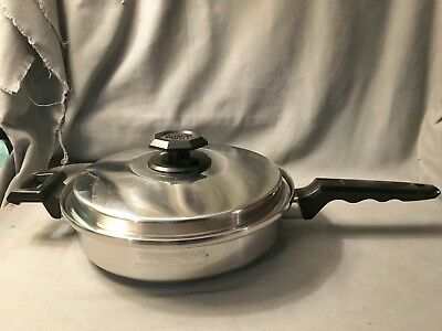 "Kitchen Craft T304 Stainless Steel Waterless 5 Ply 10"" Skillet Pan Lid West Bend"