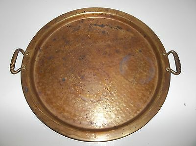 Antique Turkish Arabic Middle Eastern Brass TRAY 15.25""