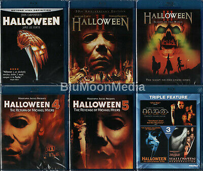 Halloween 1-8 BLU-RAY Collection lot 1 2 3 4 5 6 7 8 Original Series Set NEW