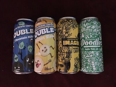 BREW LINK BREWING - Lot Of 4 different empty Craft Beer Cans - bottom opened