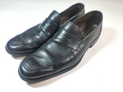 aea1e86eed4 ALLEN EDMONDS Men s GEORGETOWN Black Leather Penny Loafers Shoes Size 11