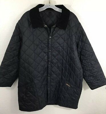 Mens Barbour Liddesdale Black Nylon Quilted Jacket Sz Xl
