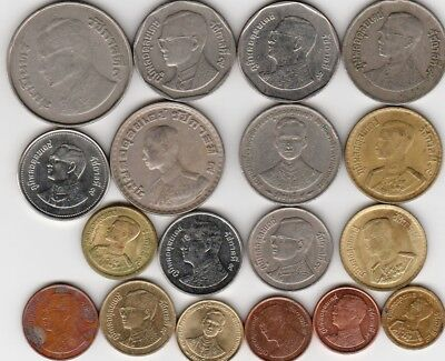 18 different world coins from THAILAND