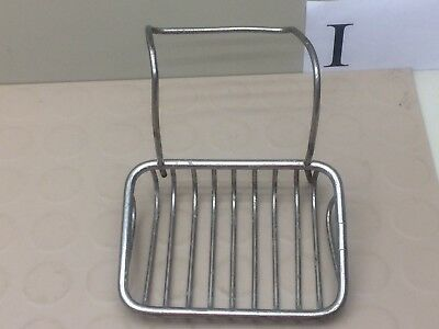 Vintage Hanging Soap Dish Holder Wire Basket Claw Foot Tub