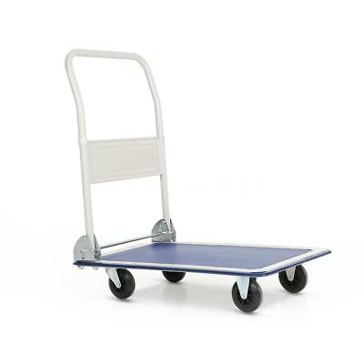 330lbs Hand Platform Cart Folding Push Pull Luggage Trolley Dolly Portable