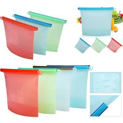 Reusable Silicone Food Storage Bag, Airtight, Seal Food Preservat Container