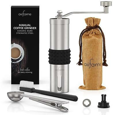 Oxifame Hand Coffee Grinder with Ceramic Conical-Burr Stainless Steel Manual