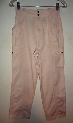 GIRLS VTG 80s LIZ CLAIBORNE PINK BAGGY PANTS 14 NEW WAVE MACYS DEPARTMENT STORE