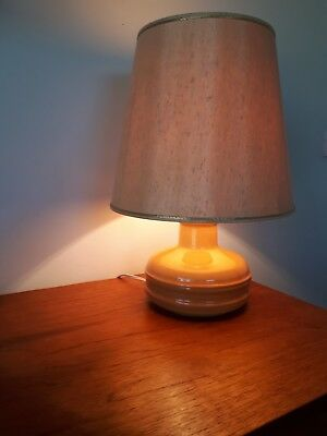 Table lamp with shade MID CENTURY CERAMIC BASE