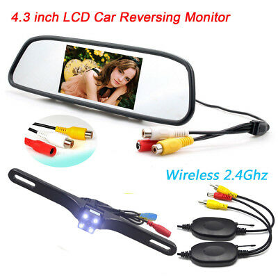 "For RV Truck Bus Van IR Rear View Backup Camera Night Vision System+4.3"" Monitor"