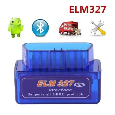 Mini ELM327 V2.1 OBD2 OBDII Bluetooth Adapter Auto Scanner TORQUE ANDROID OD