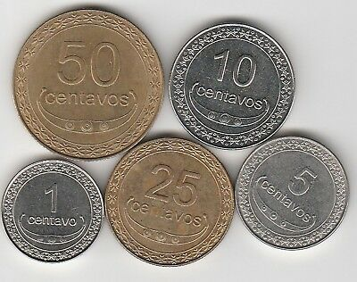 5 different world coins from EAST TIMOR