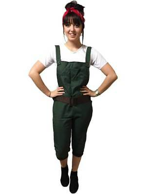 New w/Defects-Ww2 1940S Land Girl Army World War 2 Fancy Dress Costume Uk 14-16