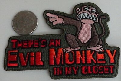 Family Guy Evil Monkey in my Closet TV Show Cartoon Iron On Patch New, Rare 2005