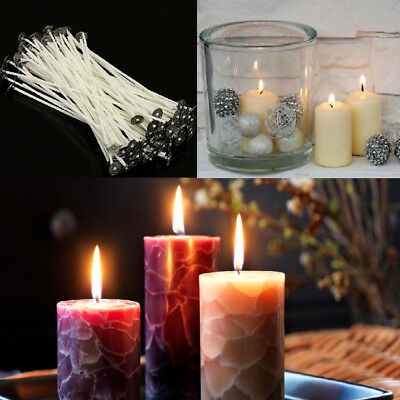 100Pcs/Bag Candle Wicks Cotton Core Pre Waxed With Sustainers For Candle Making