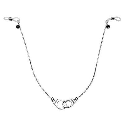 Adjustable Women Hanging Chain Handcuffs Fake Nipple Ring Non-Piercings Clip On