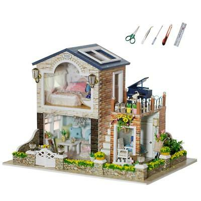 Handmade Kid's Doll House With Furniture & Staircase Fits Barbie Dollhouse DIY