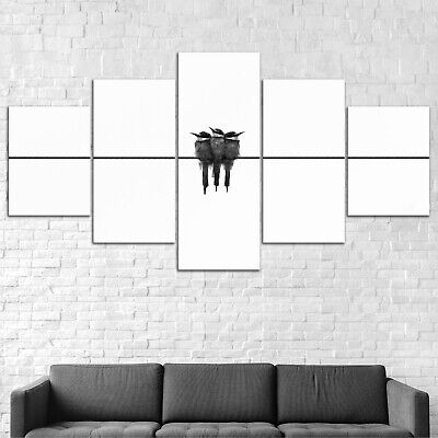 Bird Minimalist Abstract Canvas Print Painting Framed Home Decor Wall Art Poster