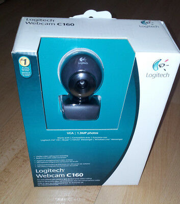 Logitech Webcam C160 with Built-in Microphone BNIB  ** FREE SHIPPING **