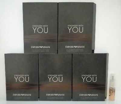 Stronger with you d'Armani EDT pour homme lot de 5 Echantillons soit 6ml