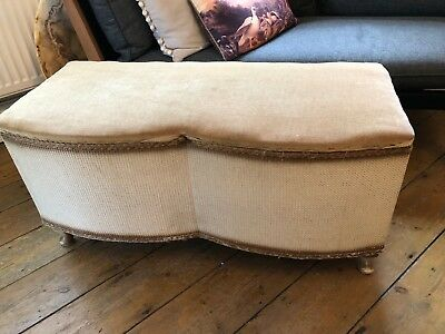 LLoyd Loom Large Retro Vintage Seat Chest Blanket Box Window Seat