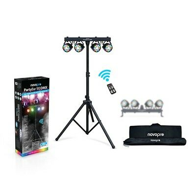 Novopro Partybar 100 DMX DJ Disco All-in-One Stage LED Parcan Lighting System