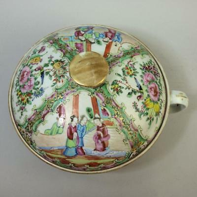 Antique Chinese Famille Rose Porcelain Chamber Pot & Cover C.1890
