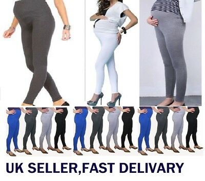 WOMENS LADIES WINTER MATERNITY THERMAL WARM THICK FULL LENGTH LEGGINGS mtrLg