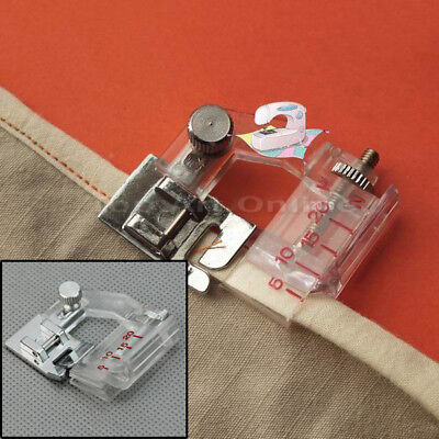 New Adjustable Quilting Bias Binder Presser Foot Snap For Home Sewing Machine