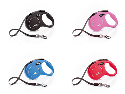 Flexi New Classic Retractable Lead Cord/Tape For Dogs Various Sizes & Colours