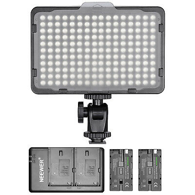 Neewer Dimmable 176 LED Video Light Kit with 2-Pack Battery and Charger