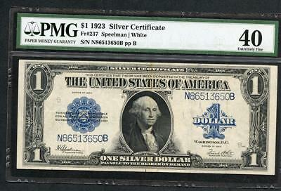 1923 Silver Certificate $1.00 Pmg 40 Nice 94 Year Old  Note Please Lqqk!!*