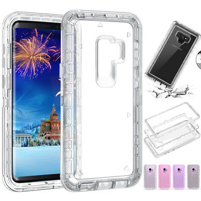 360° Luxury Transparent Clear Armor Case Cover For Samsung Note 9 S7 S8 S9 Plus