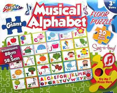 New 30Pc Musical Alphabet Puzzle Giant Sound Kids Fun Educational Xmas Gift Toy