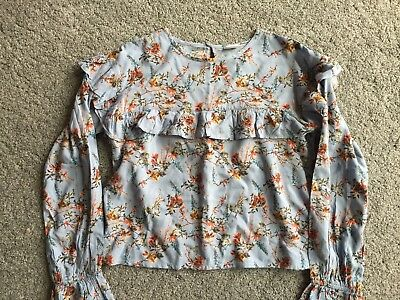 Next New Girl Floral Blouse Top Age 9 Years BNWOT