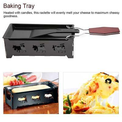 Iron Metal Non-stick Cheese Mini Oven Raclette Grill Plate Accessories & Handle
