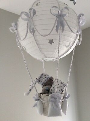 Me to you Teddy in a hot air balloon nursery lightshade can be personalised