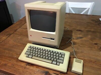 Apple Macintosh ED Platinum Vintage Computer VERY RARE 512K M0001ED